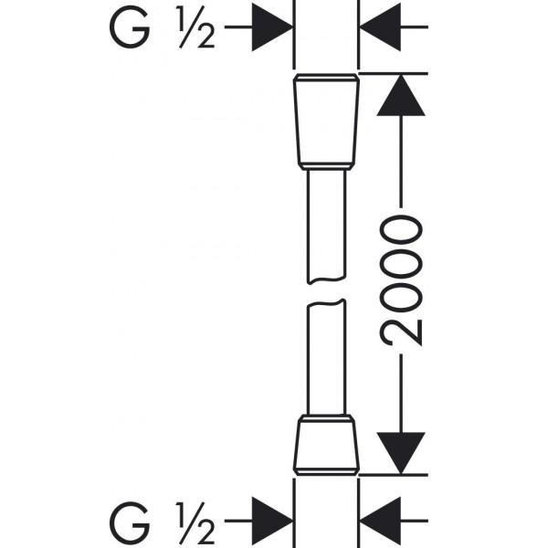 фото - Душевой шланг hansgrohe Isiflex с защитой от перекручивания 200 см, хром 28274000
