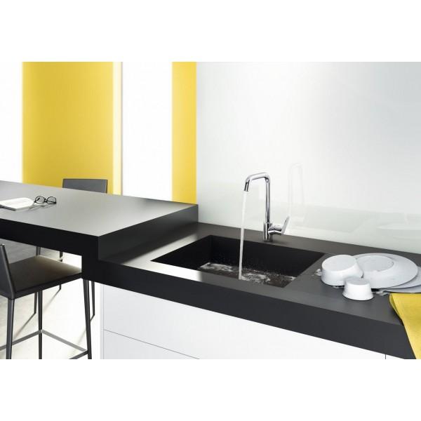 фото - Смеситель hansgrohe Focus для кухонной мойки с поворотным изливом на 3 положения, хром 31820000