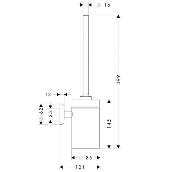 фото - Набор для WC с держателем hansgrohe Logis Classic 41632000