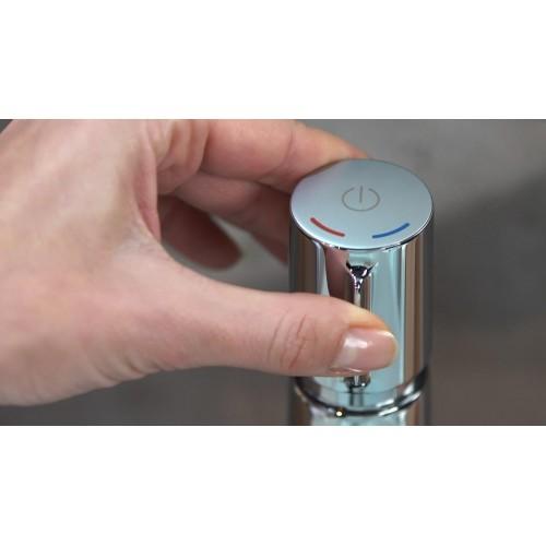 фото -  Змішувач hansgrohe Talis Select S для раковини з високим виливом та зливним гарнітуром, хром 72044000
