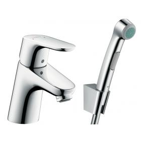 Змішувач hansgrohe Focus E2 для раковини з гігієнічним душем 31926000